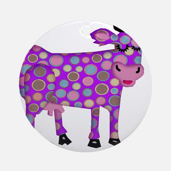 I Never Saw a Purple Cow Ornament (Round)