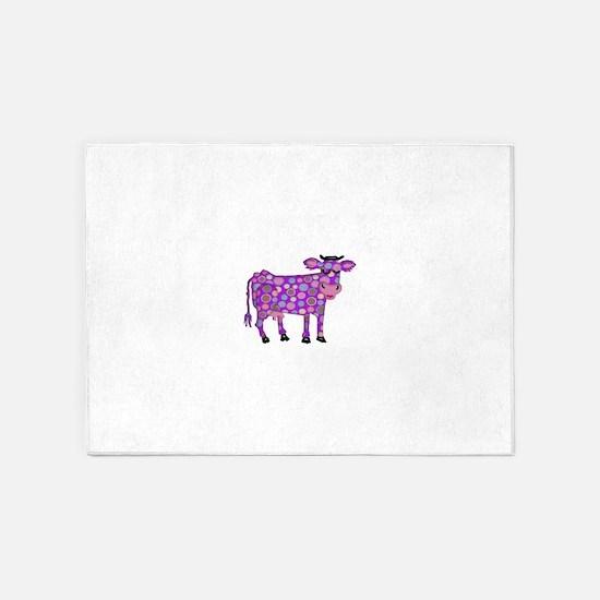 I Never Saw a Purple Cow 5'x7'Area Rug