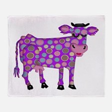 I Never Saw a Purple Cow Throw Blanket