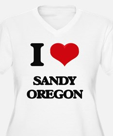 I love Sandy Oregon Plus Size T-Shirt