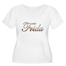 Gold Frida Plus Size T-Shirt