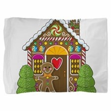 gingerbread house.png Pillow Sham