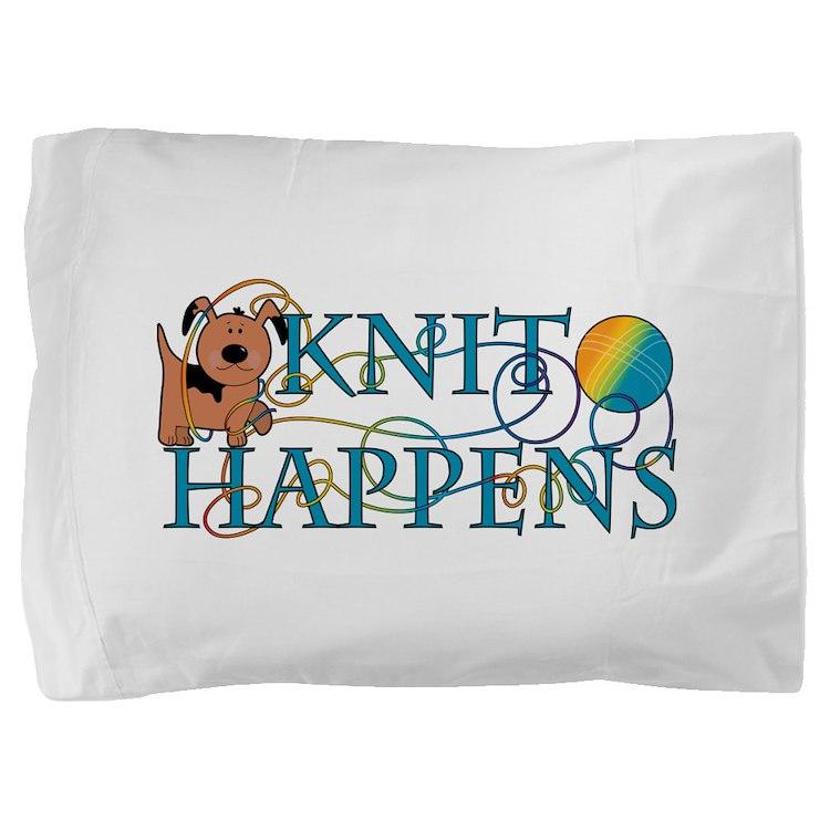 Knit Happens Pillow Sham