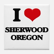 I love Sherwood Oregon Tile Coaster