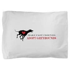 greyhound friend.png Pillow Sham