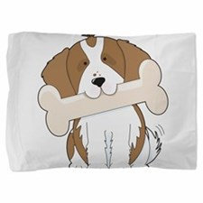 king charles with bone.png Pillow Sham
