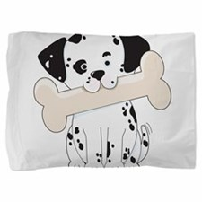 dalmation with bone.png Pillow Sham