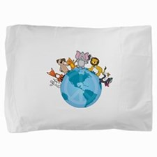 peace on earth animals 200.png Pillow Sham