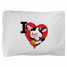cow heart 200.png Pillow Sham