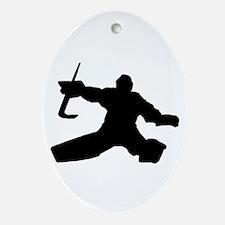 Goalie Ornament (Oval)