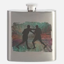 Tough & Gritty Boxing in the Ring Flask
