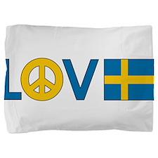 love peace sweden.png Pillow Sham