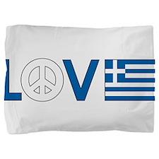 love peace greece .png Pillow Sham