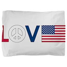 love peace america.png Pillow Sham