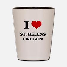 I love St. Helens Oregon Shot Glass