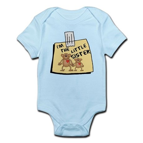 I'm The Little Sister Cute Baby bodysuits