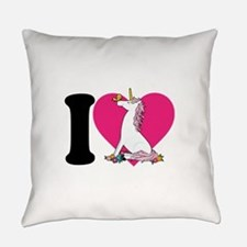 unicorn butterfly cp blk.png Everyday Pillow