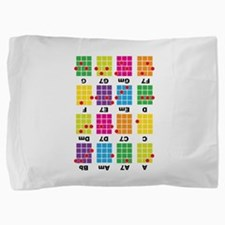 Uke Chord Cheat Tee Colorful Pillow Sham