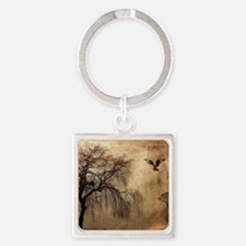 Weeping Willow with Bird Keychains