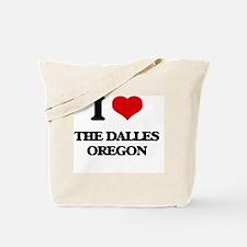 I love The Dalles Oregon Tote Bag