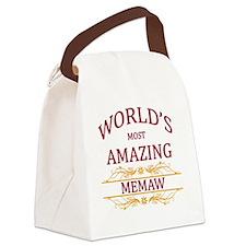 Memaw Canvas Lunch Bag