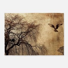 Weeping Willow with Bird 5'x7'Area Rug