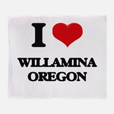 I love Willamina Oregon Throw Blanket