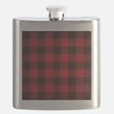 Funny Red plaid Flask