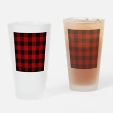 Unique Red plaid Drinking Glass