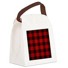 Cute Plaid Canvas Lunch Bag