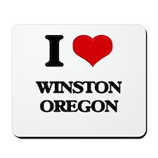 I love Winston Oregon Mousepad