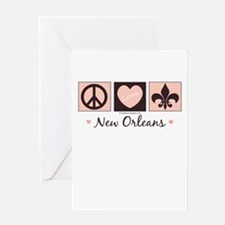 Peace Love New Orleans Greeting Card