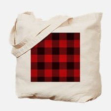 Funny Red plaid Tote Bag