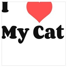 I heart My Cat Poster