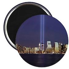 "WTC Memorial Lights 2.25"" Magnet (100 pack)"