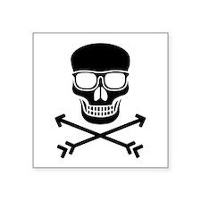 Hipster Pirate Sticker