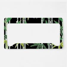 Bamboo (Black) License Plate Holder