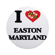 I love Easton Maryland Ornament (Round)