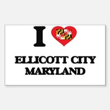I love Ellicott City Maryland Decal
