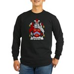 Mahewe Family Crest Long Sleeve Dark T-Shirt