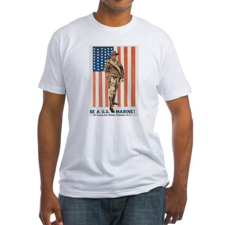 Be a Marine Fitted T-Shirt