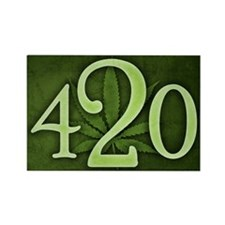 Cute 420 Rectangle Magnet (10 pack)