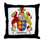 Maddox Family Crest Throw Pillow