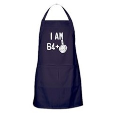 Middle Finger 65th Birthday Apron (dark)