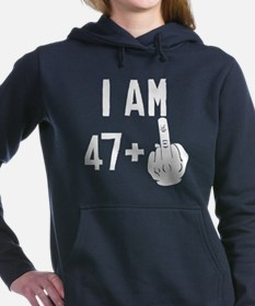 Middle Finger 48th Birthday Women's Hooded Sweatsh
