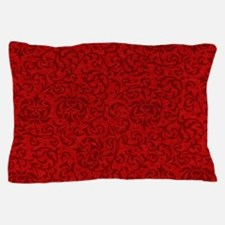 Renaissance Red Tudor Floral Pillow Case