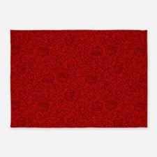 Renaissance Red Tudor Floral 5'x7'Area Rug