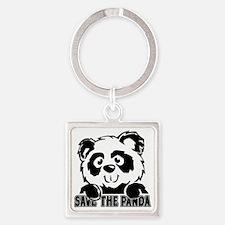 Save the Panda Square Keychain