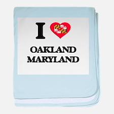 I love Oakland Maryland baby blanket
