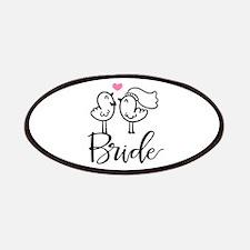 Cute Bride Birds Wedding Patch